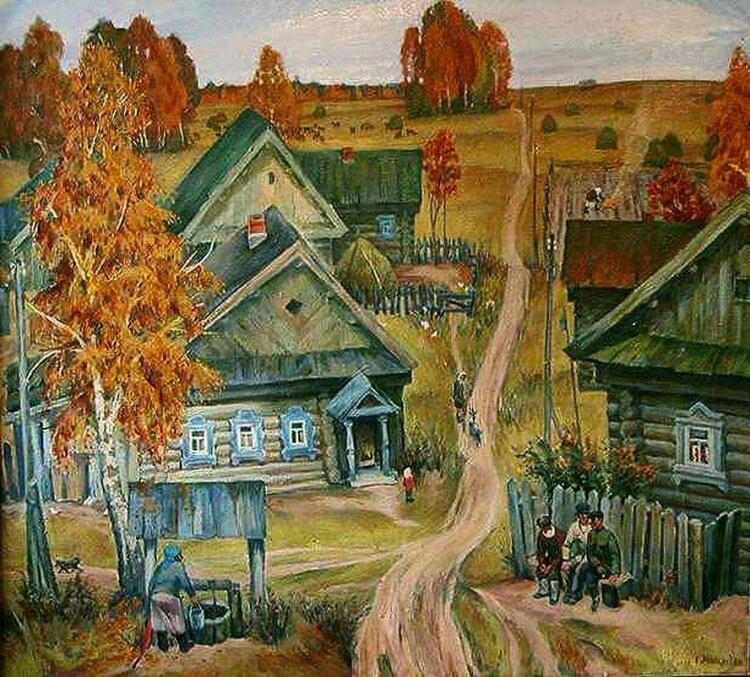 мой дом моя деревня картинка будущем