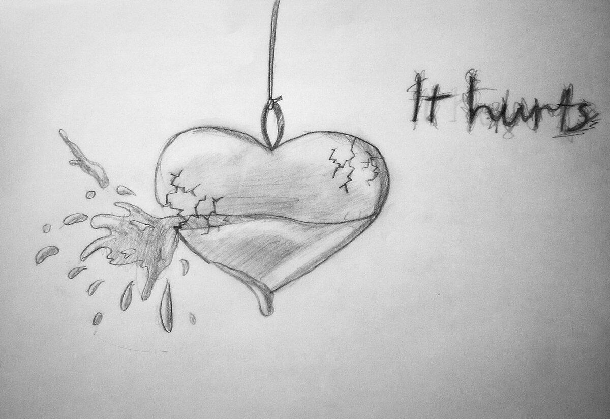 Красивые рисунки про любовь ручкой
