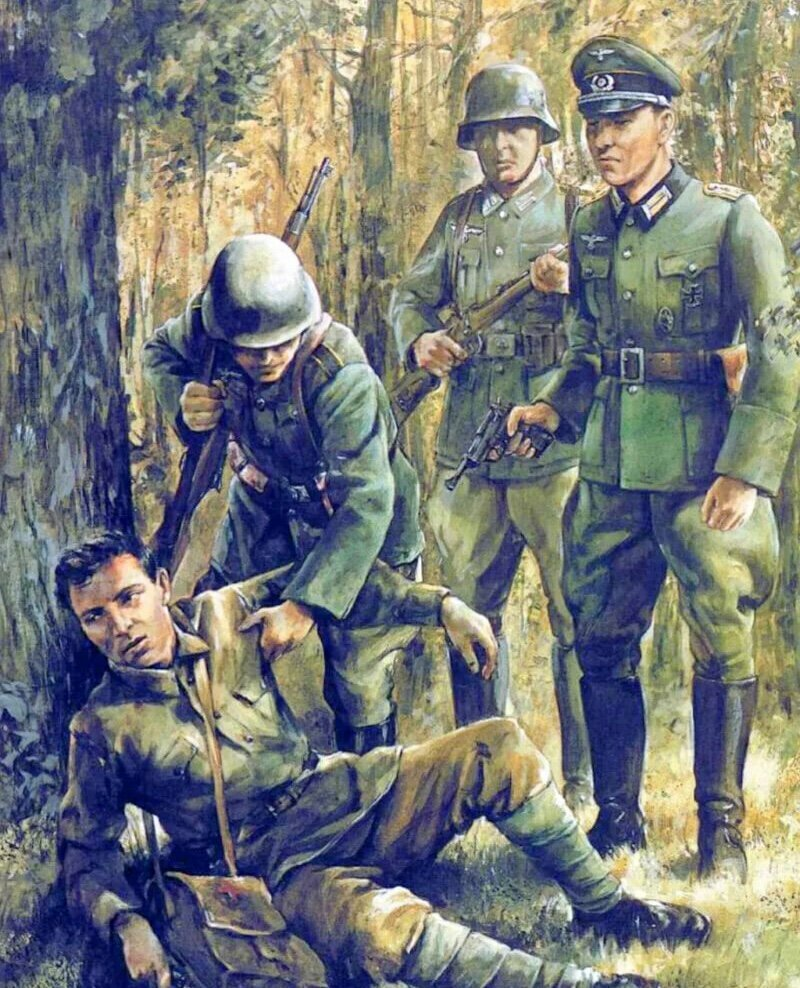 стремительную картинки с немцами военные беглеца орловским милиционерам