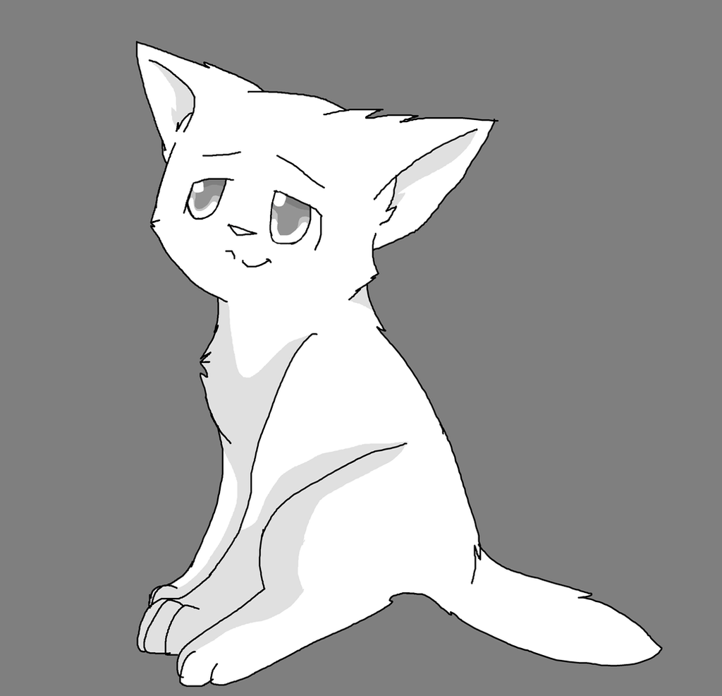Картинки котиков аниме для рисования