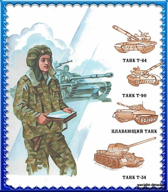 Картинки для детей военных профессии