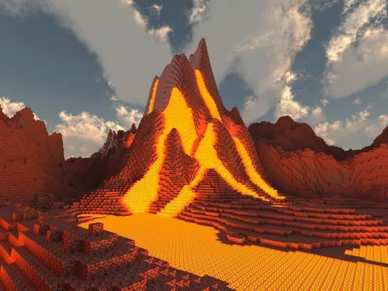 вулкан в майнкрафте