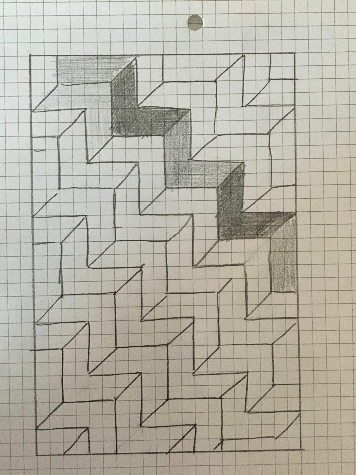 картинки чтобы нарисовать на бумагу в клетку