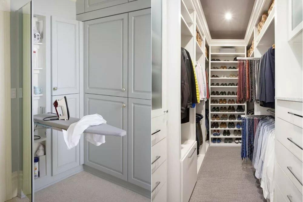 Как оформить гардеробную комнату небольшую фото