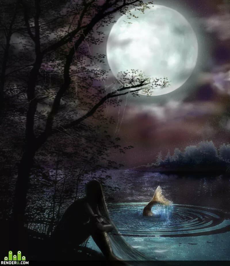 Картинки волшебство при луне