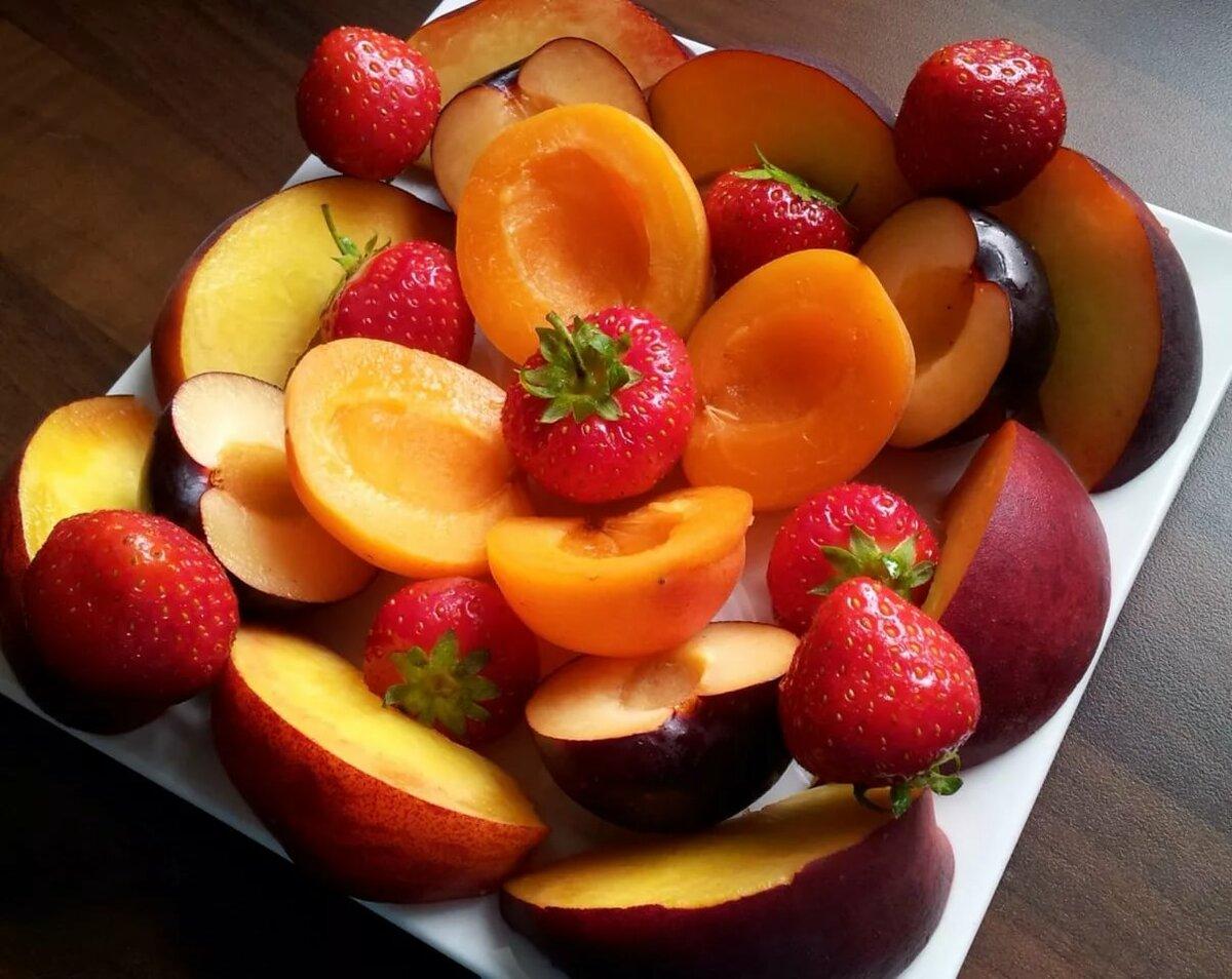 Картинки фрукты слоями