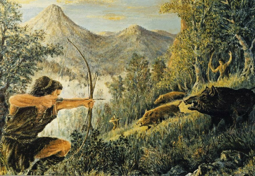 Картинки первобытные охотники