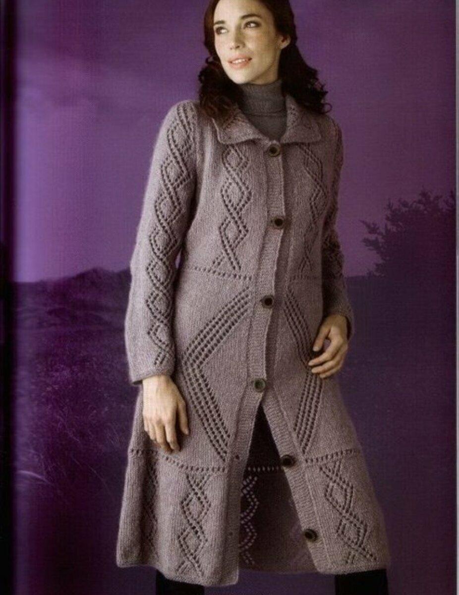 вязаное пальто на вязальной машине фото что повара