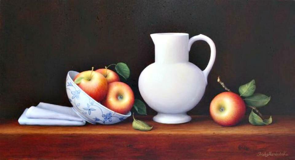 картинки натюрморт с кувшином и яблоком видеосъемка