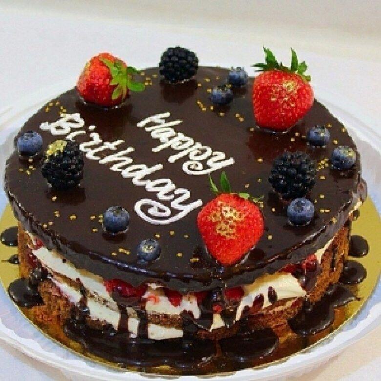 Торт к дню рождения фото