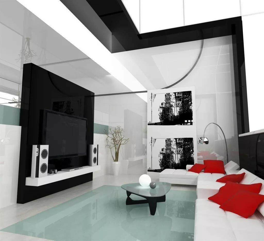 картинка для интерьера в стиле хайтек цвет панелей
