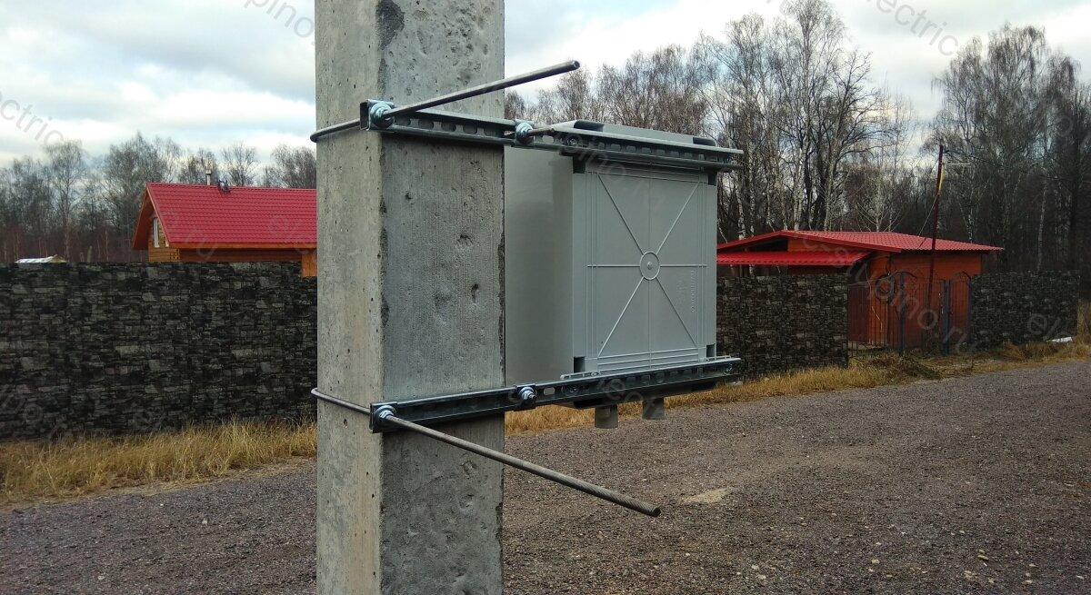 Установка электрощита на опоре ЛЭП 15 кВт в ДНП