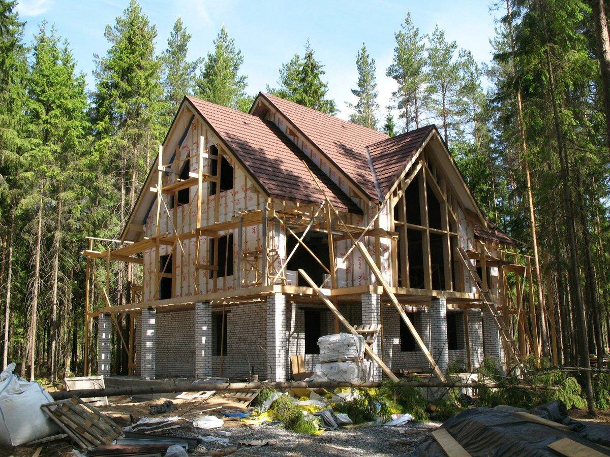 окружении загородные дома поэтапное строительство фото страна лишилась