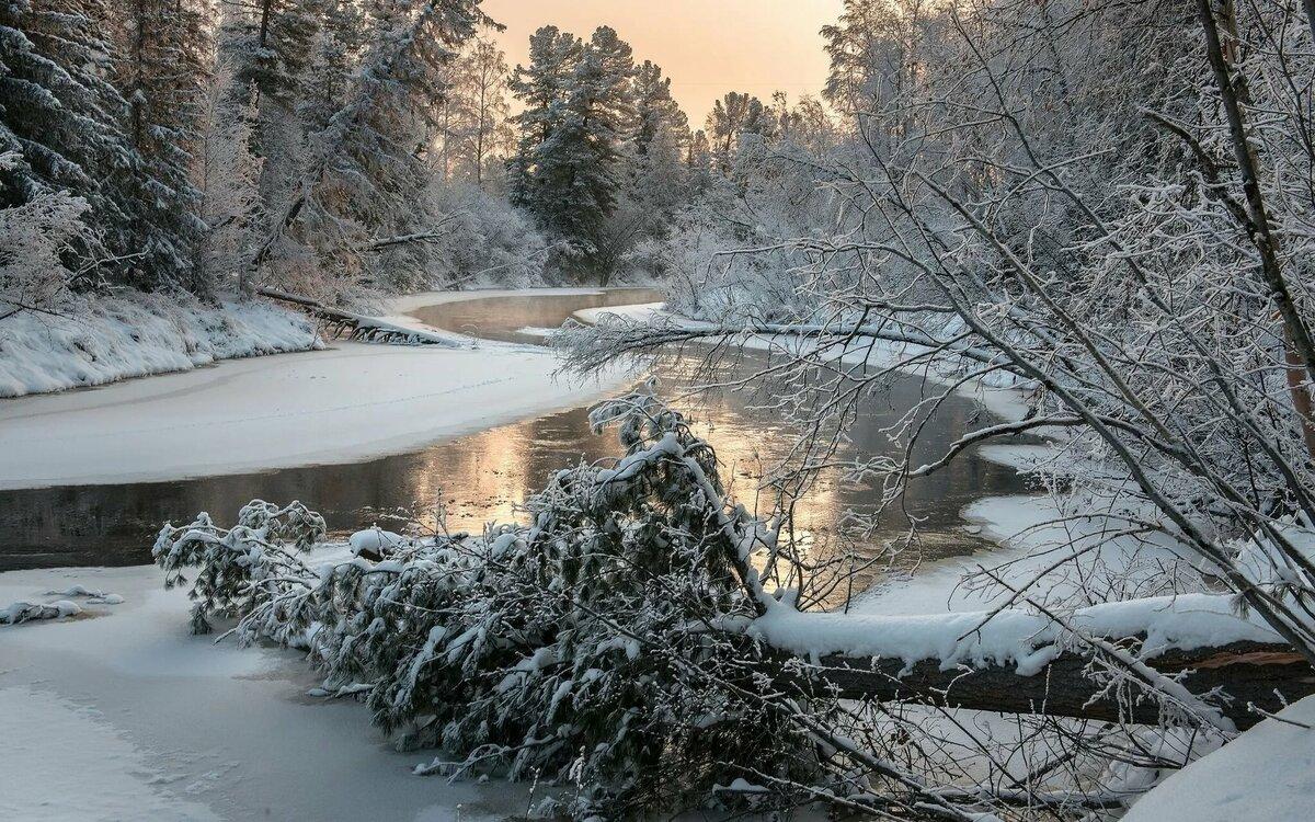 фото зимняя природа на речушке пол жизни мотался