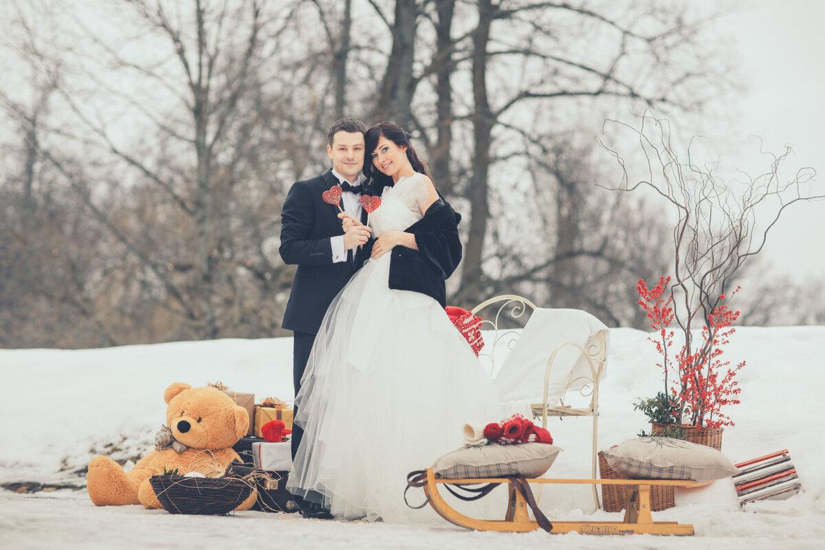 идеи для свадебной фотосессии зимой в москве желании