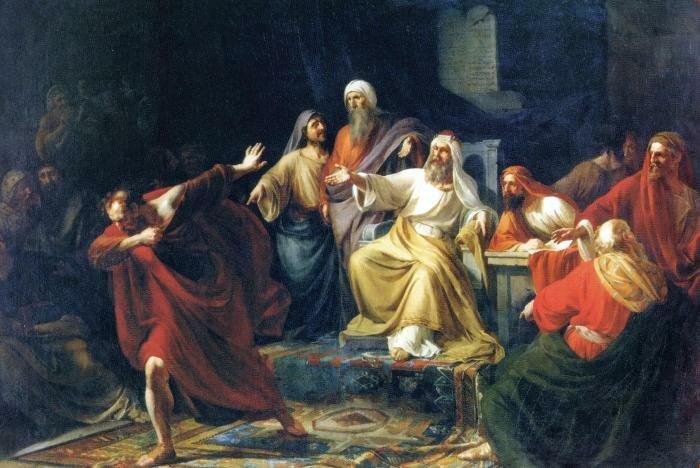 Иуда Искариот бросающий сребрянники