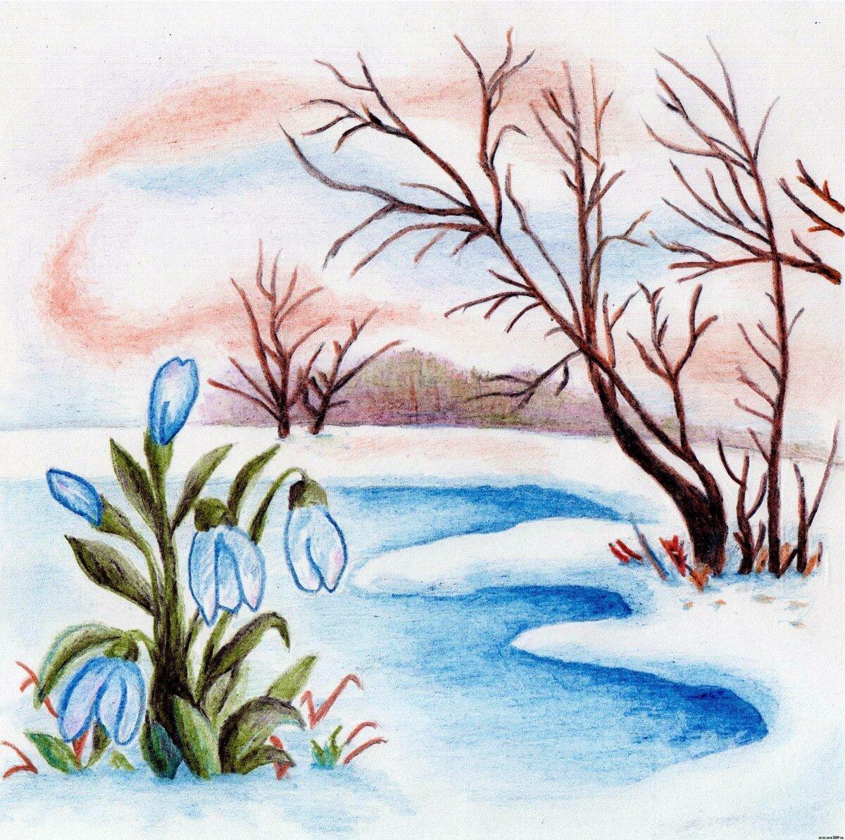 весенние рисунки карандашом легкие маневренная качалка