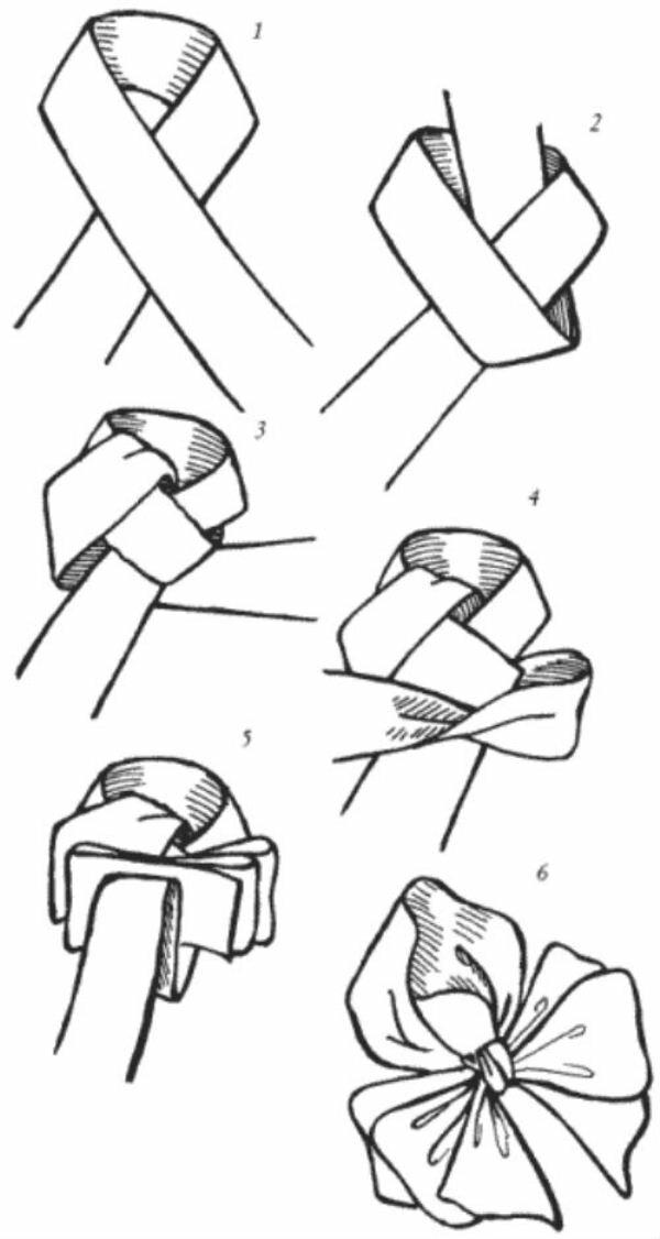 Как завязать бант для открытки