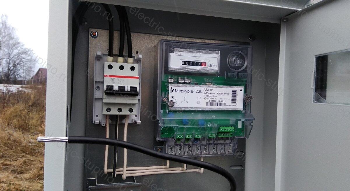 Подключение СИП к вводному автомату в электрощите 15 кВт 380 В