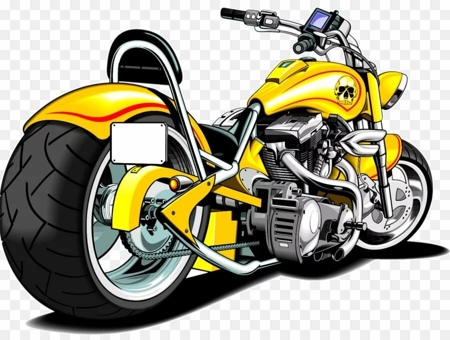 получает мультяшные картинки с мотоциклами морской свинки