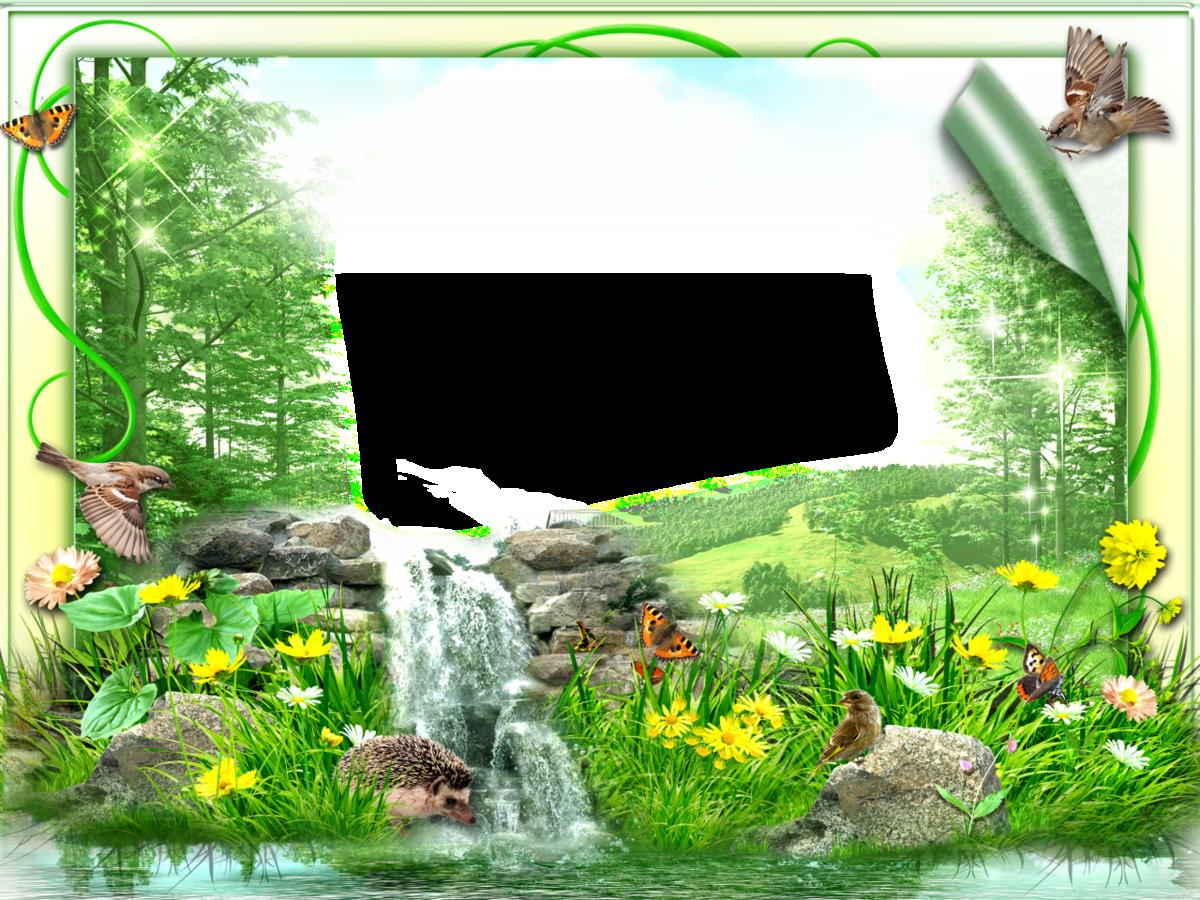 фотошаблон рамочки на траве может появиться