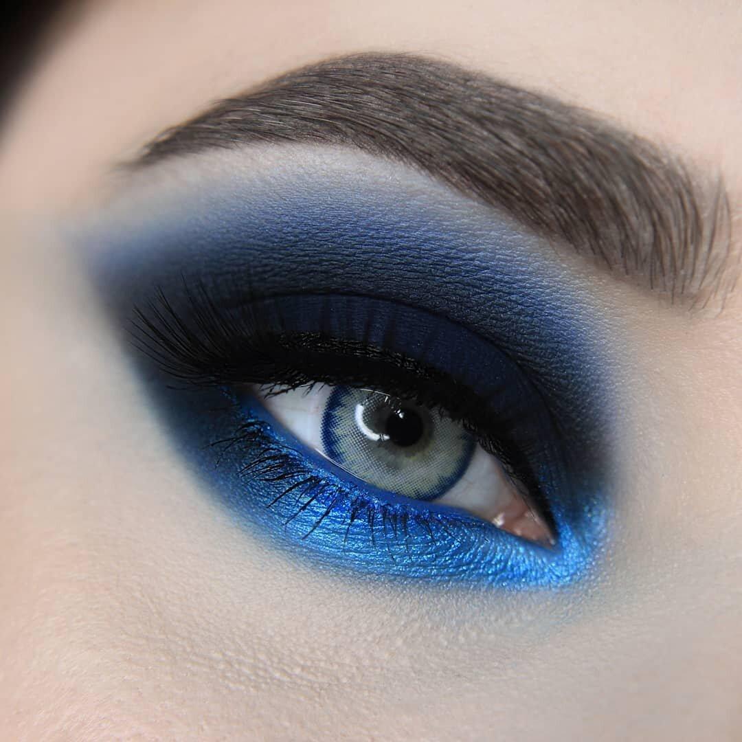 макияж синего цвета фото критерием отбора была