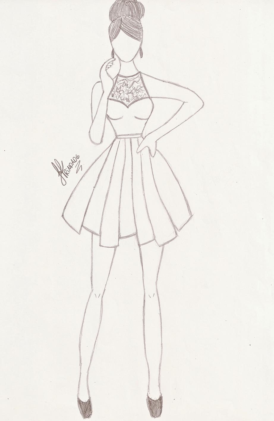 Картинки платьев коротких карандашом