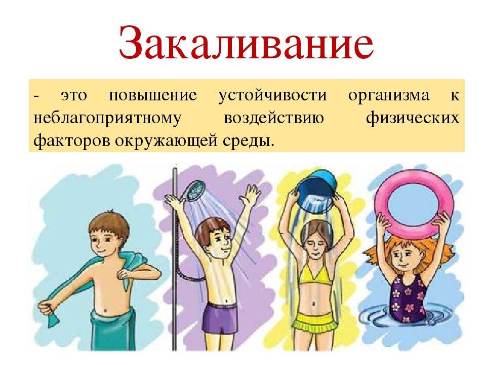 Картинки о пользе закаливания для детей