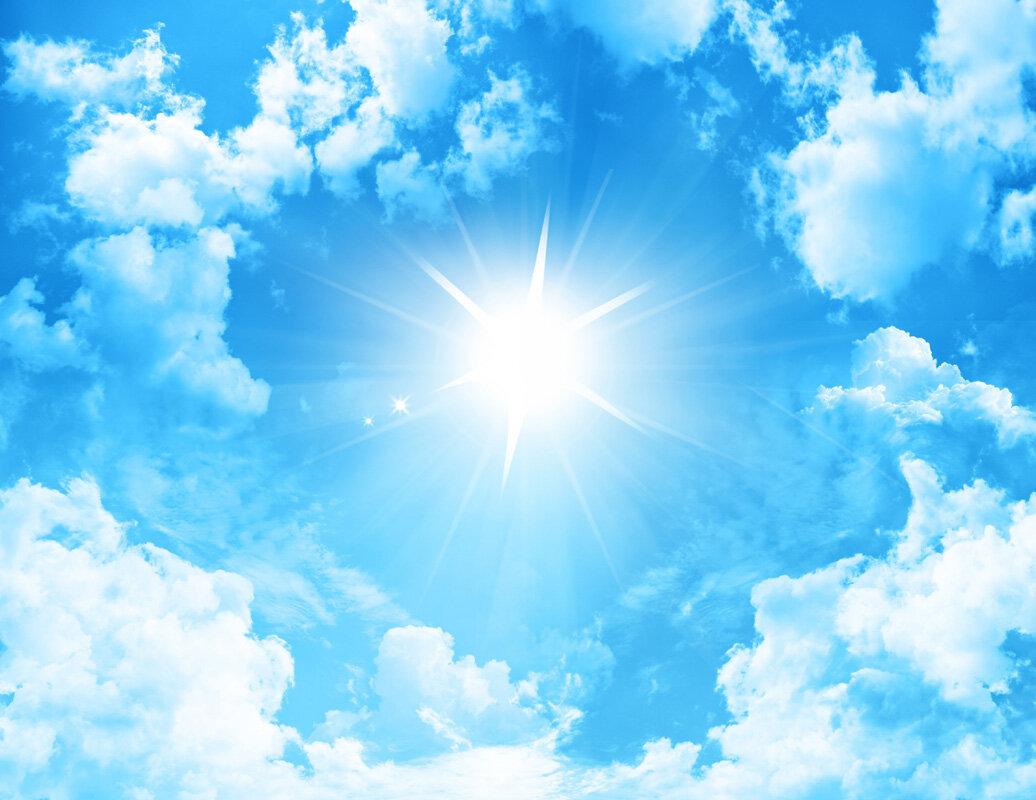 Картинка небо облака солнце