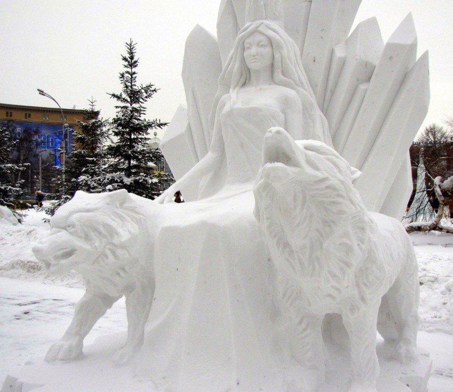фигурки из снега картинки с экспресс-салат