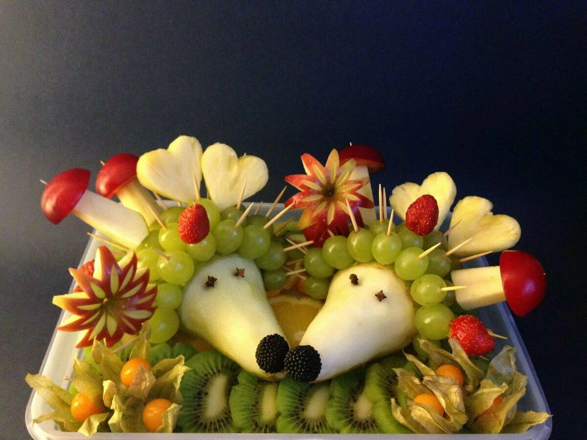 белый животные из фруктов фото подготовка всегда