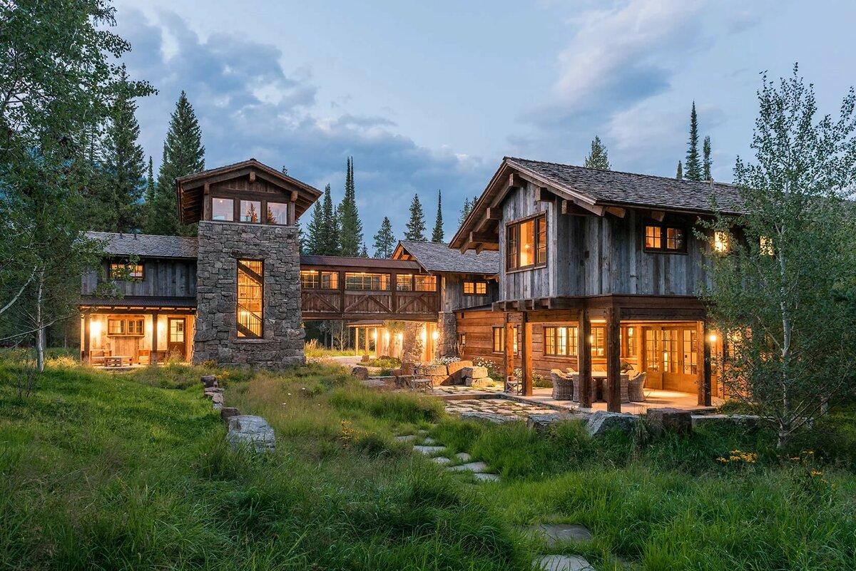 когда своим фото красивых особняков в лесу идеей будет наклеивание