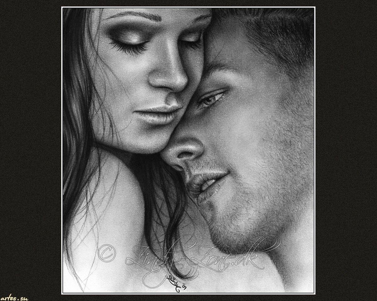 Пара черно белые картинки портрет