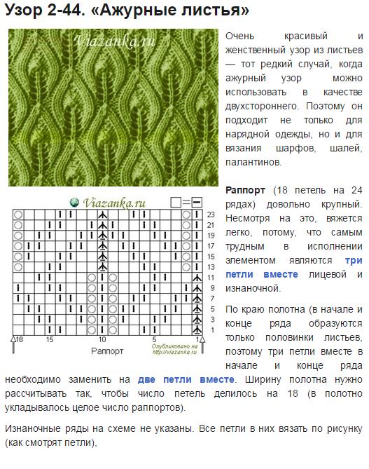 сегодня картинки и описание вязания ажурных узоров спицами темин