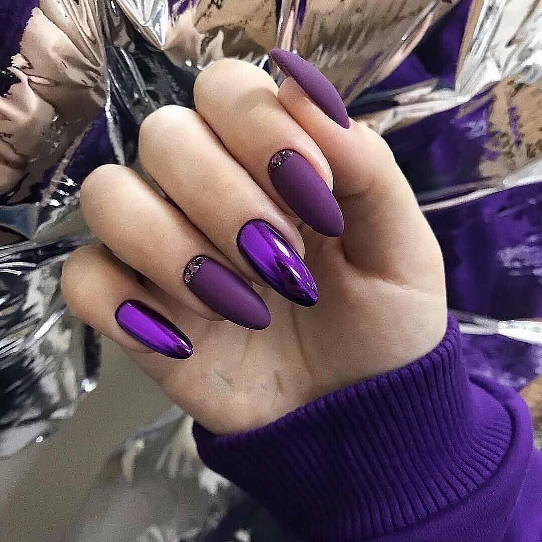 ногти нарощенные фиолетовые картинки сегодня вам