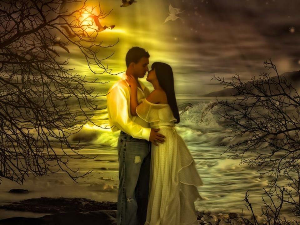 Лунный свет влюбленные пары красивые картинки