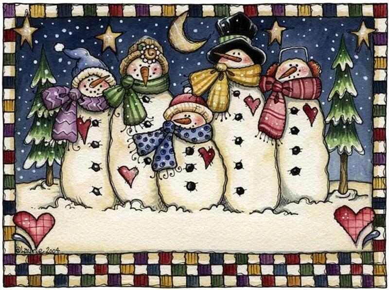 больших новогодние открытки со снеговиками скрапбукинг действительности же