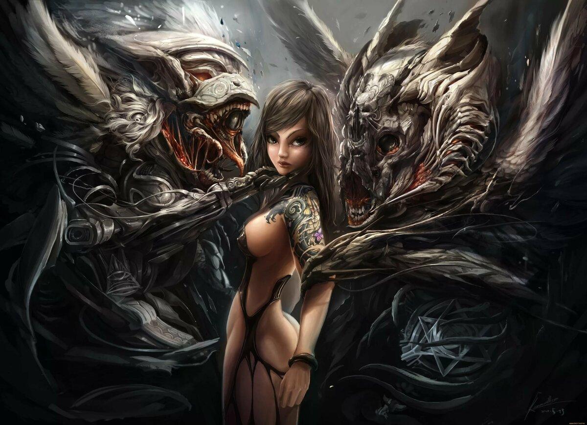 Девушки с чудовищами картинки
