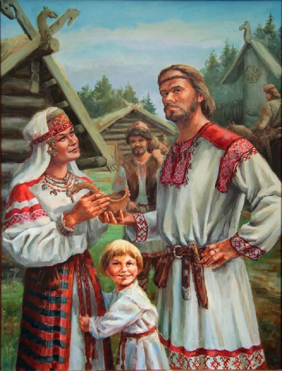 Картинка из древней руси