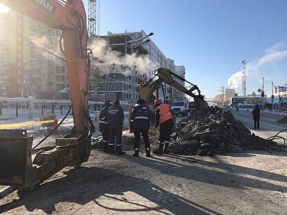 Место утечки на газопроводе по улице Лермонтова обнаружено