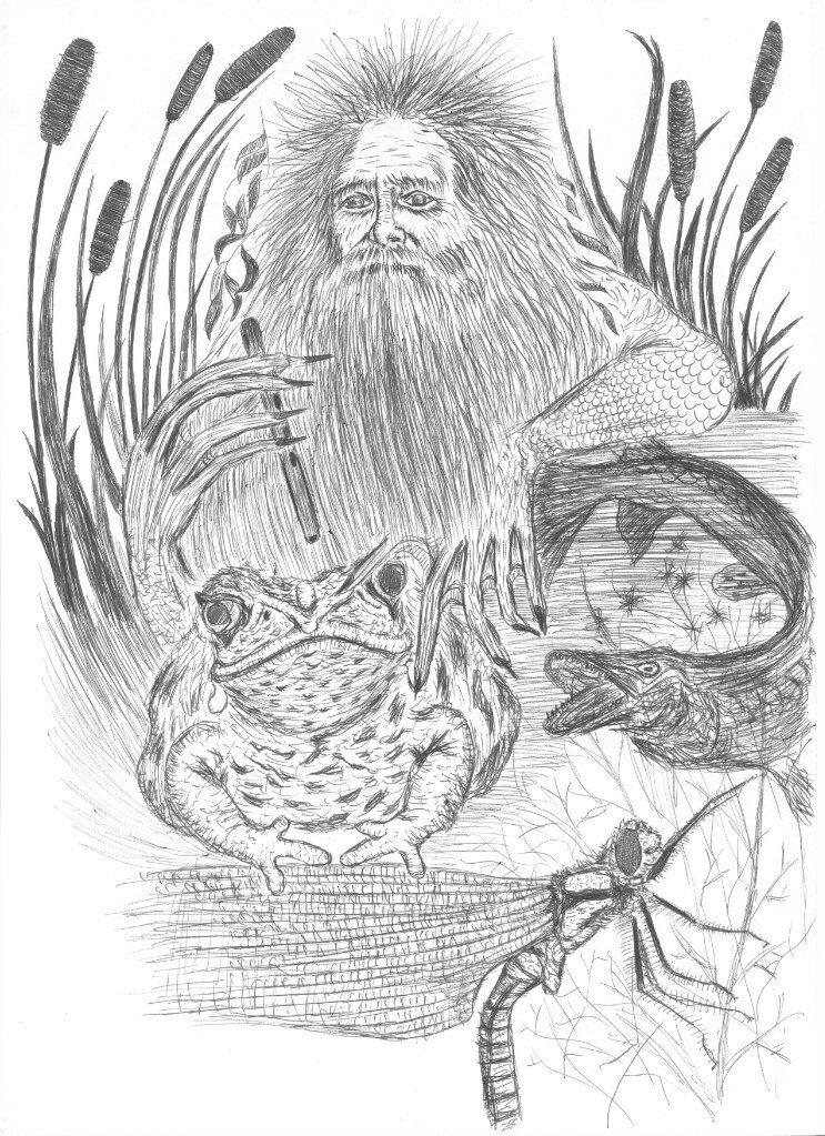 Рисунок домового водяного лешего