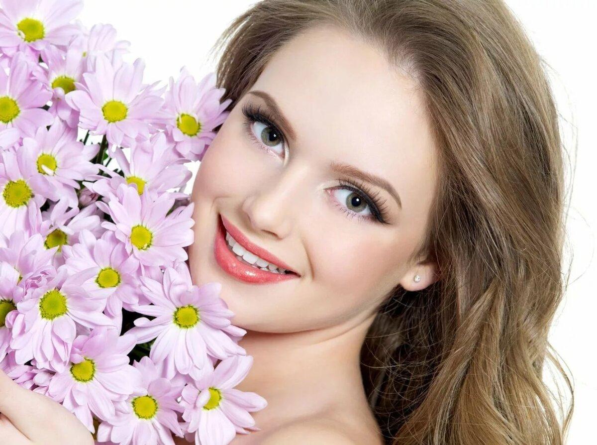 море улыбок картинка розовые оттенки цветов