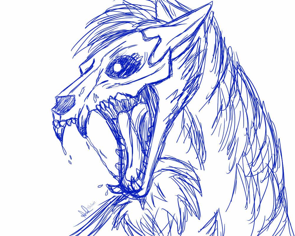 Рисунки волков аниме демонов