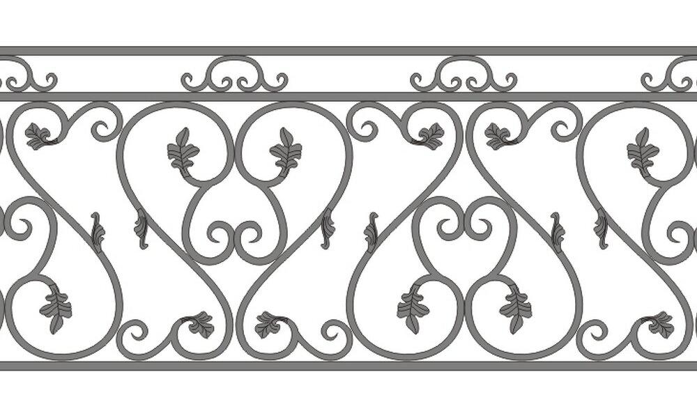 забор с вензелями рисунок картинка