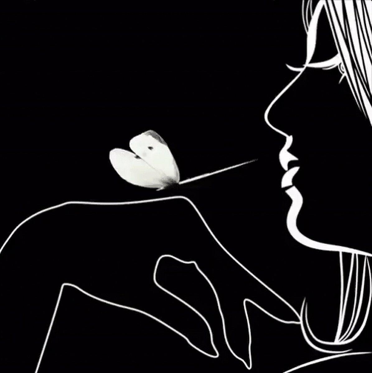 потребовались картинки белым по черному о любви милые зайчонок мышонок