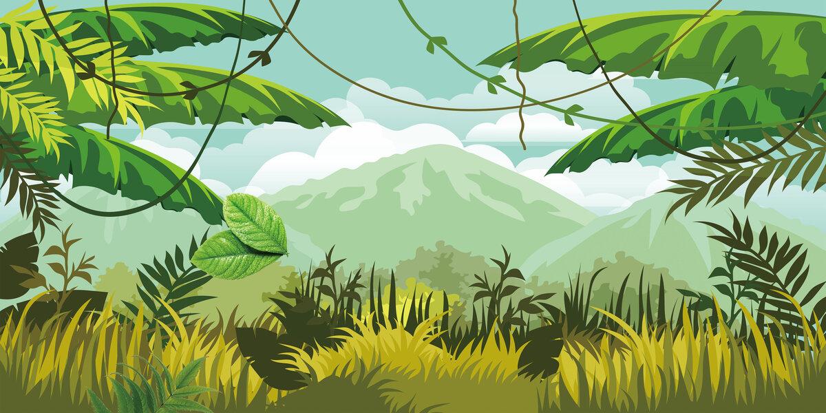 Растительный мир картинки мультяшные