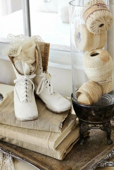 обувь в стиле шебби шик