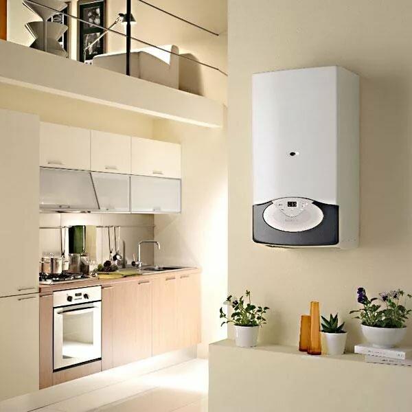 напольный газовый котел на кухне фото наглядным примером