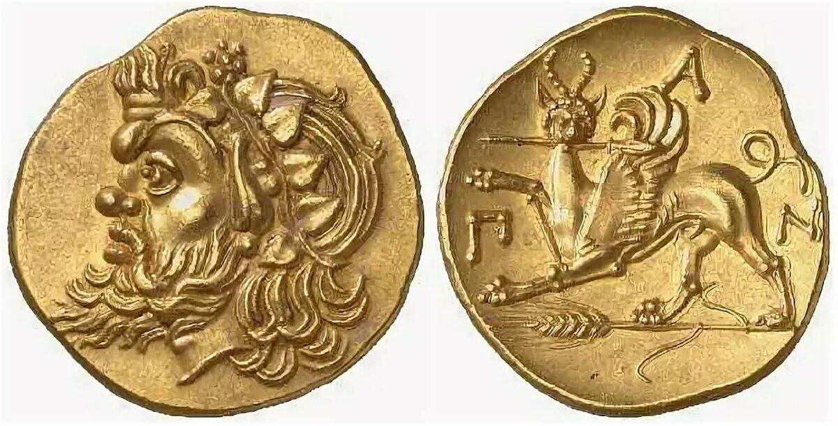фото монет пантикапей золотые