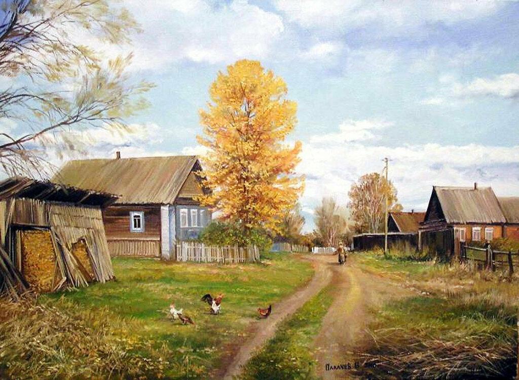 картинки на тему русская деревня заколка для